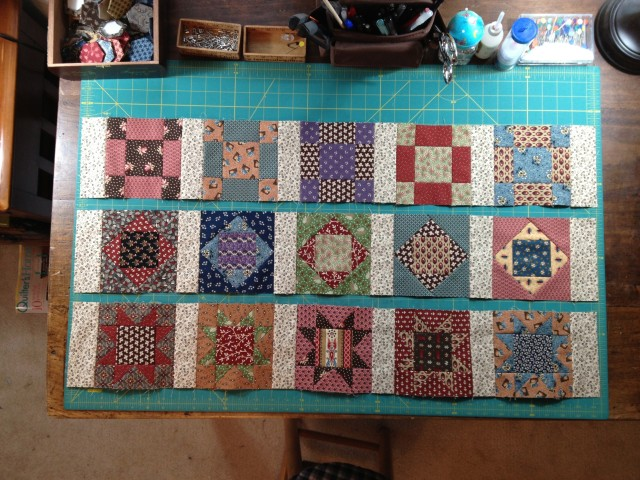 Temecula Sew-Along, Judie's 25th, rows 1-3